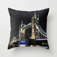 Tower bridge London Throw Pillow by Andrew Barke Photography