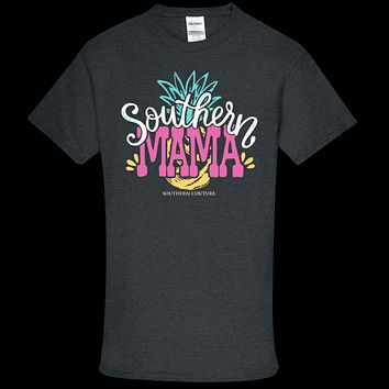 Southern Couture Soft Collection Southern Mama Pineapple front print T-Shirt