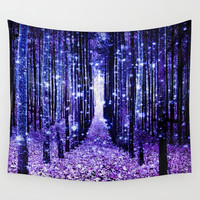 Magical Forest Wall Tapestry by 2sweet4words Designs