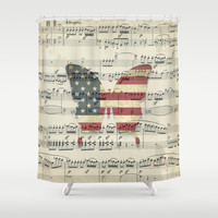 magic butterfly Shower Curtain by Steffi ~ findsFUNDSTUECKE