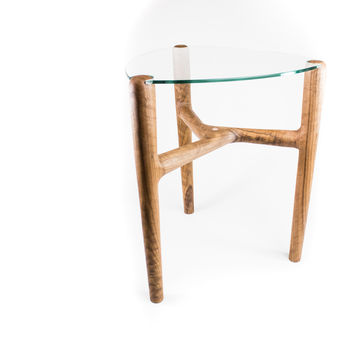 Glass Top End Table - Free Shipping