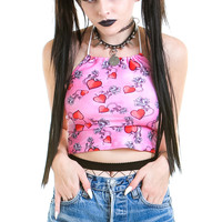 Every Rose Has It's Thorn Halter Top