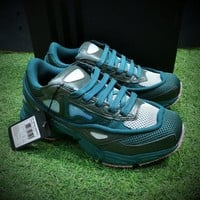 Best Online Sale Raf Simons x Adidas Consortium Ozweego 2 III Retro Sport Smart Running Shoes Dark Green Clear Pink Trainers Shoes AQ2640
