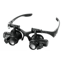 10X 15X 20X 25X Magnifier Magnifying Glass Eye Glasses Loupe with 2 LED Lights For for Collections Circuits Jewellery