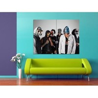 XJ2820 Hollywood Undead Masks Band Music HUGE Print POSTER