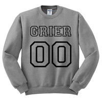 Grey Crewneck Jersey Numbers Hayes Grier Sweatshirt Gray Sweater Jumper Pullover