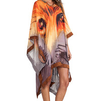 Agua Bendita Time to be Wild Lobo Tunic in Wild Animal from REVOLVEclothing.com