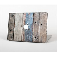 The Multicolored Tinted Wooden Planks Skin Set for the Apple MacBook Air 13""