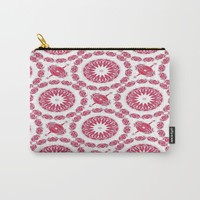 Ruby Mandala Tile Carry-All Pouch by ALLY COXON