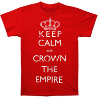 Crown The Empire Men's  Keep Calm T-shirt Red