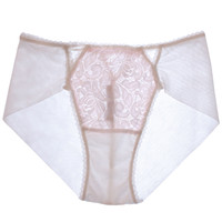 Triangle Rose High-Waist Panty - White/Soft Pink ✨SOLD OUT✨