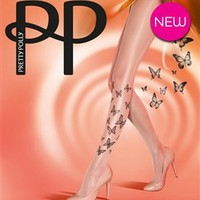 Pretty Polly Butterfly design sheer tights - Pretty Fly Flutterby Tights
