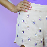 Tear Drop Twinkle Shorts: Baby Pink | Hope's
