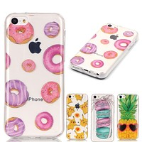 Ultra Thin Slim Soft Silicone Phone Case sFor Apple iphone 5C case For iphone 5C 5 C Transparent Clear Skin TPU Cover