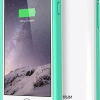 iPhone 6S Battery Case - iPhone 6 Battery Case, Trianium Atomic S iPhone 6 6S Portable Charger Charging Case [White/Turquoise]-3100mAh Battery Pack Juice Bank [MFI Apple Certified]
