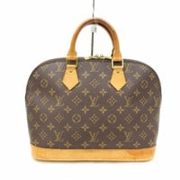 Authentic Louis Vuitton Hand Bag Alma M51130 Browns Monogram 180520