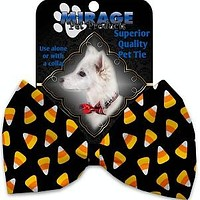 Candy Corn Halloween Dog Cat  Bow Tie