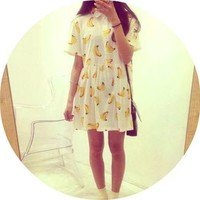 Banana Pattern Dress from Ever
