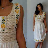 vintage MEXICAN embroidered day dress / 1970s by vintagemarmalade