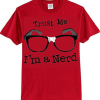 trust me im a nerd glasses t-shirt cool funny t-shirts cute gift present humor tee shirts
