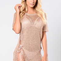 Sneaky Lover Top - Rose Gold