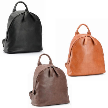 New 2016 package baotou layer cowhide leather backpack backpack euramerican fashion contracted joker-Color Brown