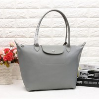 Longchamp Women's Nylon 1899 Foldable Tote Bag - Gray Color
