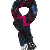 Chevron Fringe Wrap Scarf by Charlotte Russe