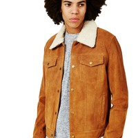 The Idle Man Suede Western with Detachable Collar Tan
