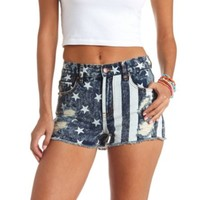 AMERICANA CUT-OFF HIGH-WAISTED DENIM SHORTS