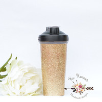 Gold glitter 28 oz Blender bottle, Custom Blender bottle, Blender bottle, Monogram Blender bottle, Blender bottle 28oz, Custom shaker bottle