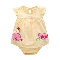 Baby Rompers Summer Baby Girl Clothes Cartoon Baby Girl Clothing Sets 2017 Newborn Baby Clothes Roupas Bebe Infant Jumpsuits