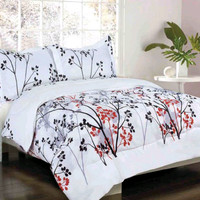 Lincoln Park Black/ Red/ Gray Twin Bed in a Bag
