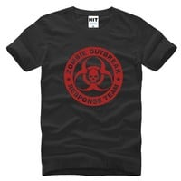Zombie Outbreak Response Team Skull Printed Men's T-Shirt T Shirt For Men 2016 New Short Sleeve O Neck Cotton Casual Top Tee