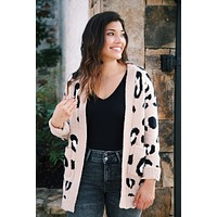 Get Your Attention Leopard Cardigan, Mocha Leopard