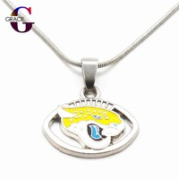 Jacksonville Jaguars Team Charms Football Sports Pendant Necklace With Snake Chain(45+5cm) Necklace For Women DIY Jewelry