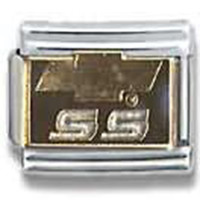 GENERAL MOTORS CORP SS Chevy Bowtie Logo Officially Licensed Italian Charm