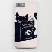 World Domination For Cats iPhone & iPod Case by Tobe Fonseca