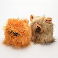 Pet Hat Costume Lion Mane Wig For Cat Pets Halloween Dress Up With Ears 3C