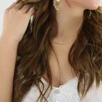 Modern Muse Antique Gold Earrings With Dangling Beads