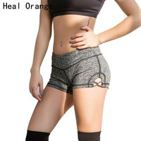 HEAL ORANGE Women Yoga Shorts Slim Fit Elastic Solid Gym Shorts Women Fitness Running Sports Shorts Workout Tights Gym Clothes