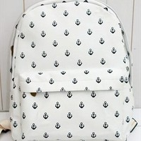 Canvas Backpack with Anchor Embellishment FJK312 from topsales