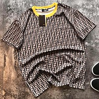 Fendi Summer New Fashion More Letter Print Women Men Top T-Shirt