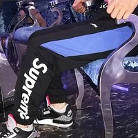 Supreme Woman Men Fashion Pants Trousers Sweatpants