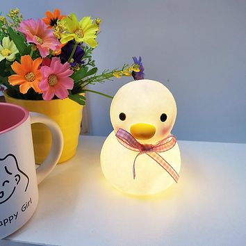 Girl Bedroom Dormitory Bedside Led Night Light Cute Duck Ornaments Male And Female Couples Luminous Creative Gifts