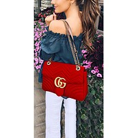 Gucci Tide brand classic models women's wild fashion wave pattern chain bag shoulder bag 2#