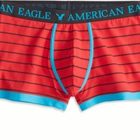 AEO Men's Striped Low Rise Trunk (Red)
