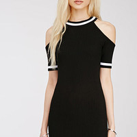 Cutout Shoulder Knit Dress