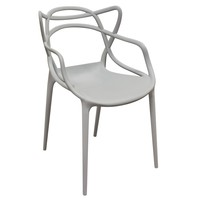 Newton 4-Pack Indoor/Outdoor Accent Chairs in Grey Polypropylene (PP)