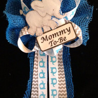 Elephant baby shower                         Mommy-to-be corsage